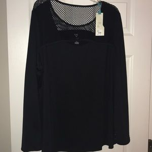 Long Sleeve Active Top with mesh detail